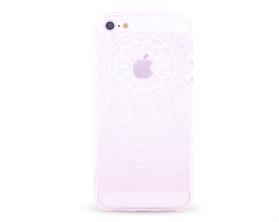 Kryt Pattern Rubber Soft TPU Apple iPhone 5 bílý