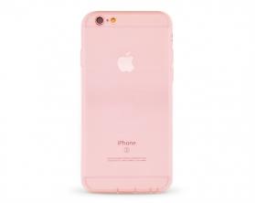 Kryt Ultra Thin Clear Soft TPU Cover Apple iPhone 6 červený