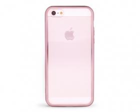 Kryt DEVIA Glitter Apple iPhone 5S/SE stříbrný