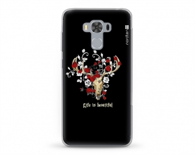 Kryt NORDTEN Rose deer skull Asus Zenfone 3 silikonový