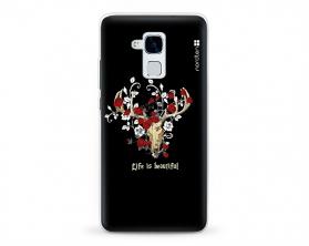 Kryt NORDTEN Rose deer skull Huawei Honor 5C silikonový