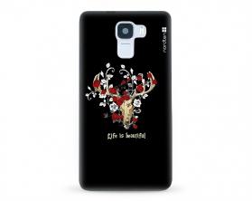 Kryt NORDTEN Rose deer skull Huawei Honor 7 silikonový