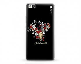 Kryt NORDTEN Rose deer skull Huawei P8 lite silikonový