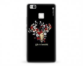 Kryt NORDTEN Rose deer skull Huawei P9 silikonový