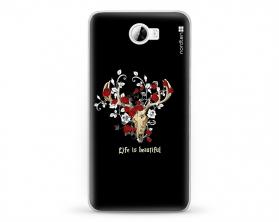Kryt NORDTEN Rose deer skull Huawei Y5 II silikonový