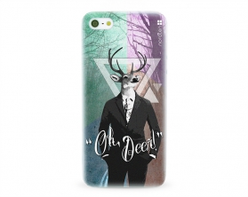 Kryt NORDTEN hipster oh deer Apple iPhone 5/5S/SE silikonový