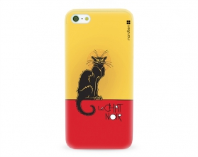 Kryt NORDTEN le chat noir Apple iPhone 5/5S/SE silikonový