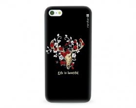 Kryt NORDTEN Rose deer skull Apple iPhone 5/5S/SE silikonový