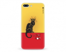 Kryt NORDTEN le chat noir Apple iPhone 7 plus silikonový