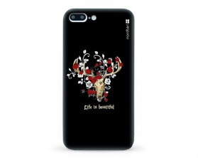 Kryt NORDTEN Rose deer skull Apple iPhone 7 plus silikonový