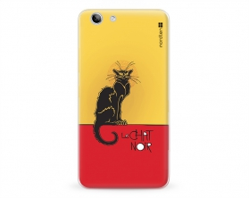 Kryt NORDTEN le chat noir Lenovo K5 plus silikonový