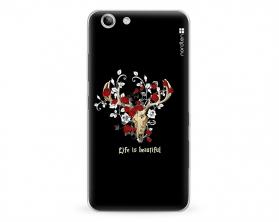 Kryt NORDTEN Rose deer skull Lenovo K5 plus silikonový