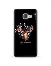 Kryt NORDTEN Rose deer skull Samsung Galaxy A3 silikonový