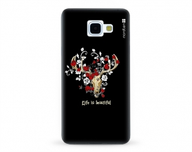 Kryt NORDTEN Rose deer skull Samsung Galaxy A5 2016 silikonový