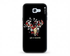 Kryt NORDTEN Rose deer skull Samsung Galaxy A5 2017 silikonový