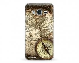 Kryt NORDTEN Old map Samsung Galaxy J3 silikonový