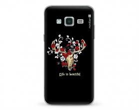 Kryt NORDTEN Rose deer skull Samsung Galaxy J3 silikonový