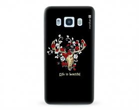 Kryt NORDTEN Rose deer skull Samsung Galaxy J5 2016 silikonový