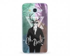 Kryt NORDTEN hipster oh deer Samsung Galaxy J5 silikonový