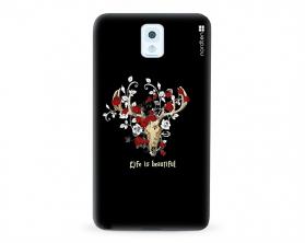 Kryt NORDTEN Rose deer skull Samsung Galaxy Note 3 silikonový