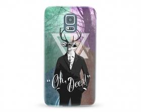Kryt NORDTEN hipster oh deer Samsung Galaxy S5 silikonový
