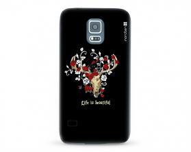 Kryt NORDTEN Rose deer skull Samsung Galaxy S5 silikonový