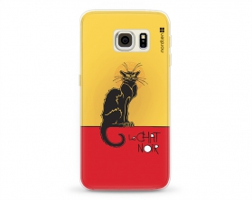 Kryt NORDTEN le chat noir Samsung Galaxy S6 Edge silikonový