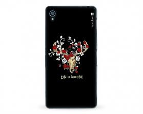 Kryt NORDTEN Rose deer skull Sony Xperia Z3 silikonový