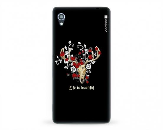 Kryt NORDTEN Rose deer skull Sony Xperia M4 Aqua silikonový
