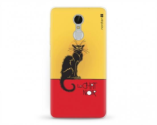 Kryt NORDTEN le chat noir Xiaomi Redmi Note 3 silikonový