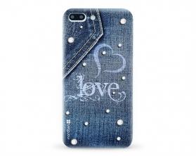 Kryt NORDTEN jean love Apple iPhone 7 plus silikonový