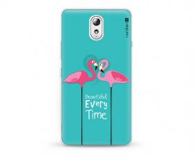 Kryt NORDTEN flamingo beautiful every time Lenovo P1m silikonový