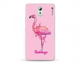 Kryt NORDTEN flamingo watercolor Lenovo P1m silikonový