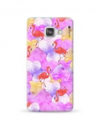 Kryt NORDTEN flamingo hearts Samsung Galaxy A3 silikonový