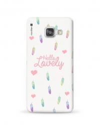 Kryt NORDTEN Hello lovely Samsung Galaxy A3 silikonový