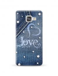 Kryt NORDTEN jean love Samsung Galaxy A3 silikonový