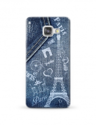 Kryt NORDTEN jean Paris Samsung Galaxy A3 silikonový