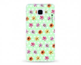 Kryt NORDTEN flowers mix green Samsung Galaxy A5 2016 silikonový