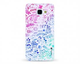 Kryt NORDTEN flowers mix watercolor Samsung Galaxy A5 2016 silikonový