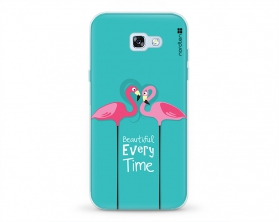 Kryt NORDTEN flamingo beautiful every time Samsung Galaxy A5 2017 silikonový