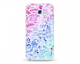 Kryt NORDTEN flowers mix watercolor Samsung Galaxy A5 2017 silikonový
