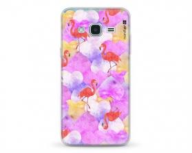 Kryt NORDTEN flamingo hearts Samsung Galaxy J3 silikonový