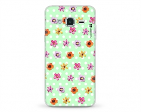 Kryt NORDTEN flowers mix green Samsung Galaxy J3 silikonový