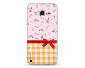 Kryt NORDTEN flowers mix kanafas Samsung Galaxy J3 silikonový