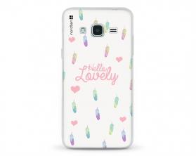 Kryt NORDTEN Hello lovely Samsung Galaxy J3 silikonový