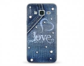 Kryt NORDTEN jean love Samsung Galaxy J3 silikonový