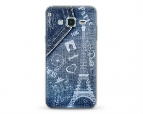 Kryt NORDTEN jean Paris Samsung Galaxy J3 silikonový