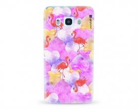 Kryt NORDTEN flamingo hearts Samsung Galaxy J5 2016 silikonový