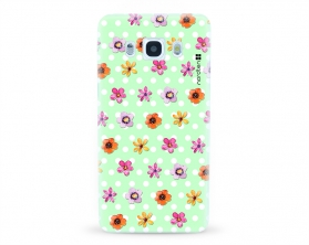 Kryt NORDTEN flowers mix green Samsung Galaxy J5 2016 silikonový