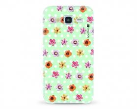 Kryt NORDTEN flowers mix green Samsung Galaxy J5 silikonový